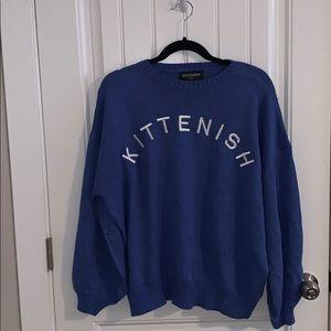 NWT Kittenish Logo Sweater